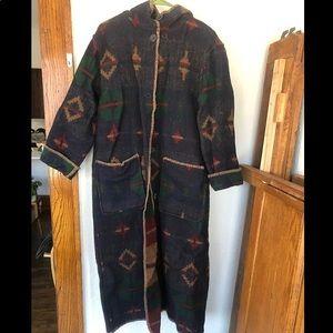 Vintage native blanket duster
